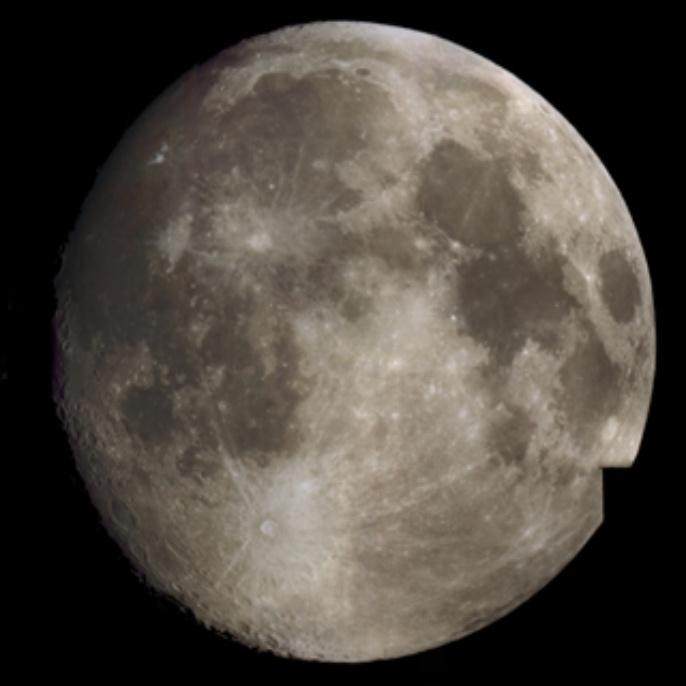 Mond in Nahaufnahme