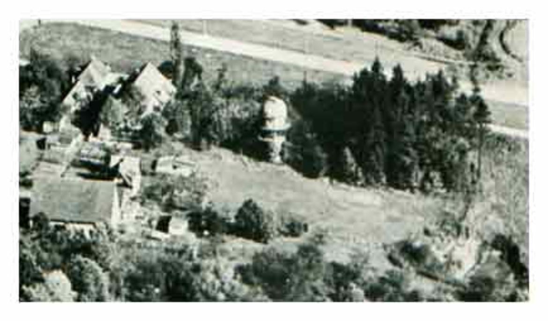Die Sternwarte Pfaffenwald in den frühen Jahren nach ihrer Errichtung.